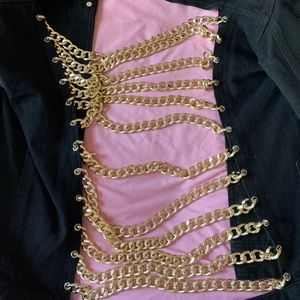 Misguided Gold Chained Jacket